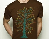 Tree of Life Species Phylum Vintage Science Diagram Illustration Graphic T-shirt MENS - S,M,L,XL,XXL available