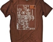 Retro Electronic Music T-shirt Moog Analog Synthesizer Graphic Tee S,M,L,XL,XXL