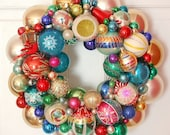 Vintage Ornaments Wreath Shiny Brite Fabulous