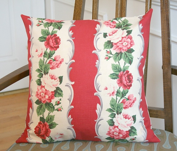 Vintage Waverly Roses Pillow Cover FREE Shipping