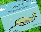 Narwhal Submarine with Unicorn  Art Print 8x10 By Agorables Love the Cute