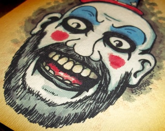 Captain Spaulding  Art Print 5x7 By Agorables Lords of the Undead -- Ruler of Monsters Rob ZOmbie