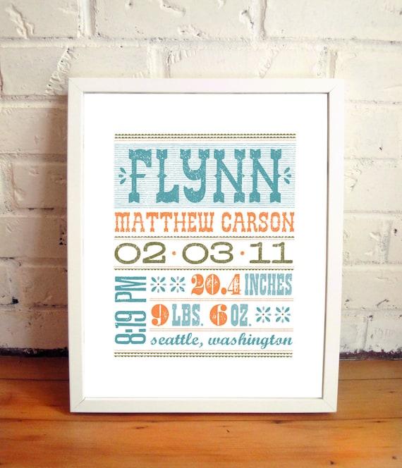 11x14 custom name print