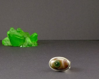 Ocean Jasper Ring Natural Stone Jewelry Eco Friendly Statement Gemstone Ring
