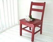 vintage wood childs chair