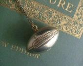 vintage football necklace