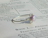 Purple Freshwater Pearl Sterling Ring-Sizes 4.5 or 7.5 available-SALE