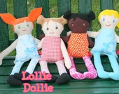 Basic Rag Doll Instant Download New Pattern Lollie Dollie 17 Inch Tall Doll By Little Bird Lane Sewing Pattern EASY and CUTE