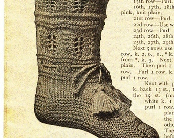 Antique Baby Booties Bootees Knitting Pattern PDF
