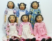 Dress, Bonnet & Apron for Hitty Size Little MO Dolls - pattern #106