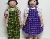 Pattern for Little MO Dolls - No.105 Jumper, Overalls and Blouse