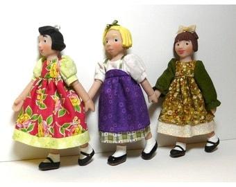 Multi Dress for Hitty Size Little MO Dolls - pattern #101