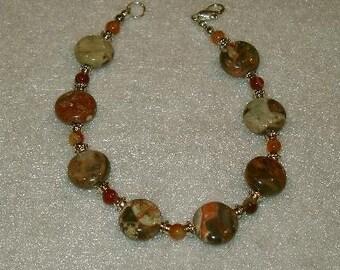 Peacock Jasper, bracelet