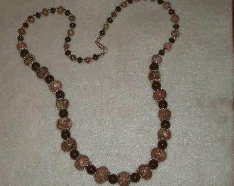 multi stone necklace,jasper,apaloosa jasper,garnet necklace,handmade necklace,OOAK necklace,long necklace