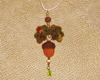 needle felted fall door knob charm