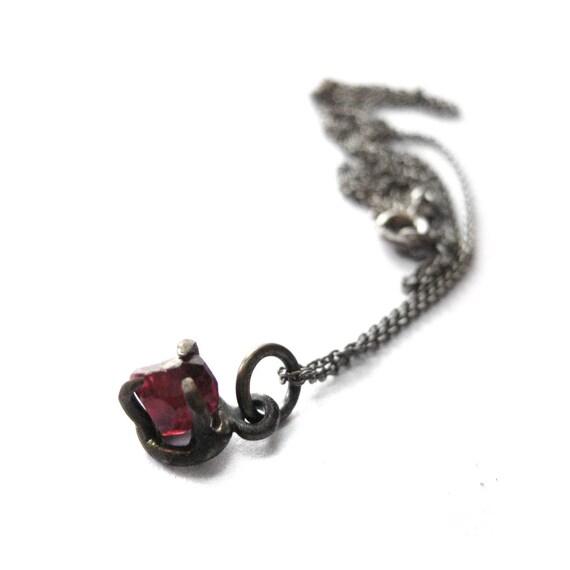 rough faceted garnet pendant