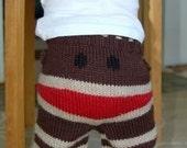 Classic Sock Monkey Crankypants- Size 12-18  Months