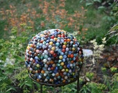 Custom Reclaimed Marble Garden Ball for Paula