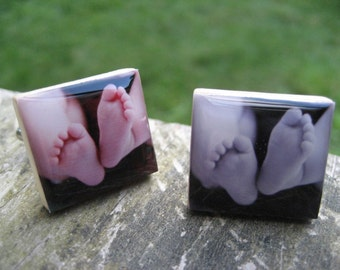 Custom Photo Cuff Links...Close to My Heart Series...Personalized Photograph Jewelry and Gifts for Men and Women
