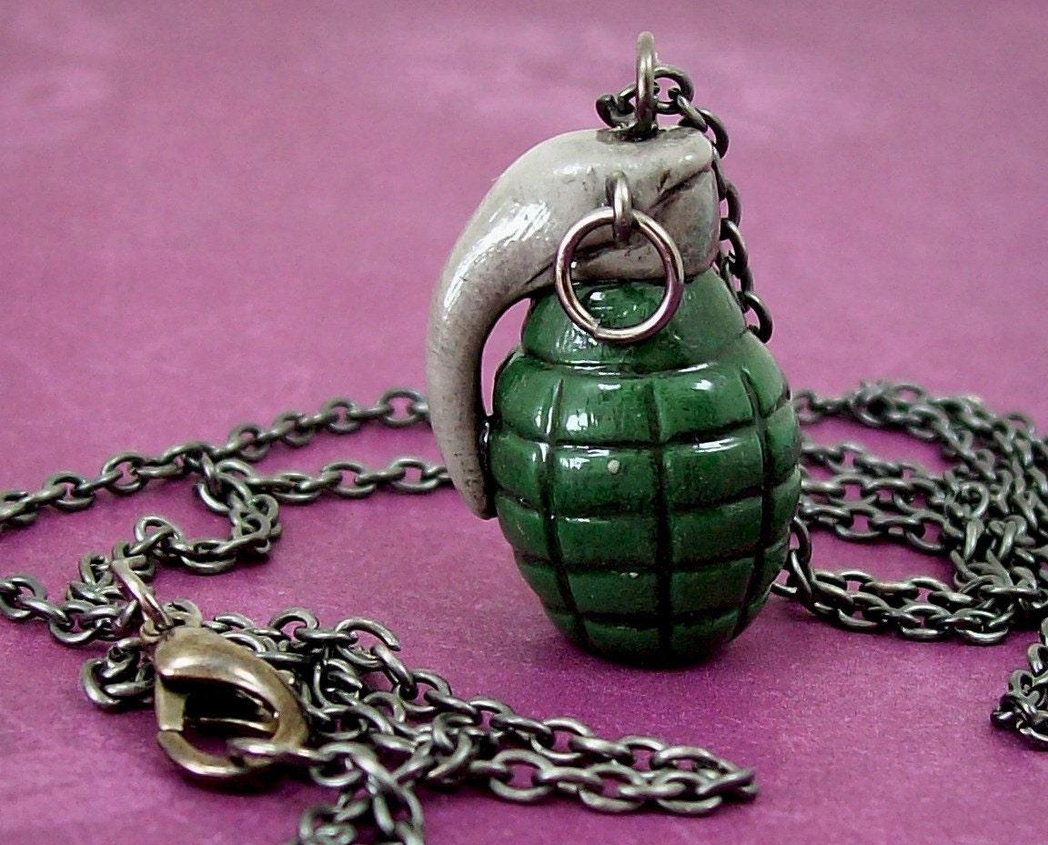 grenade necklace