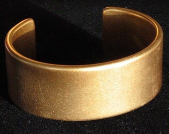 Gold Metallic Vintage Bangle Cuff Vinyl That 70s Show Bold Statement Hollywood Art Modernist Bracelet Mid Century Disco Fever Runway Wide