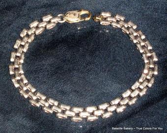 ItaLy SterLing Vintage Linked Bracelet 925 Excellent Silver Signed Mid Century Designer Elegant Quality Gift 11 grams Fine Italian Unique