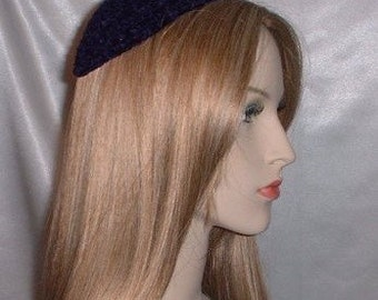 Chenille Crochet Kippah Yarmulke Headcovering - Variety of Colors Available