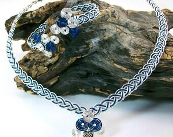 Celtic Jewelry Set Boudica Bracelet and Collar Necklace