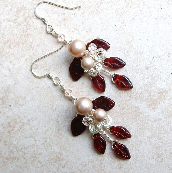 Queen Mabs Wedding Earrings, Womens Gift for Her