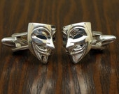 Anonymous Vendetta Cufflinks, Sterling Silver, Handmade
