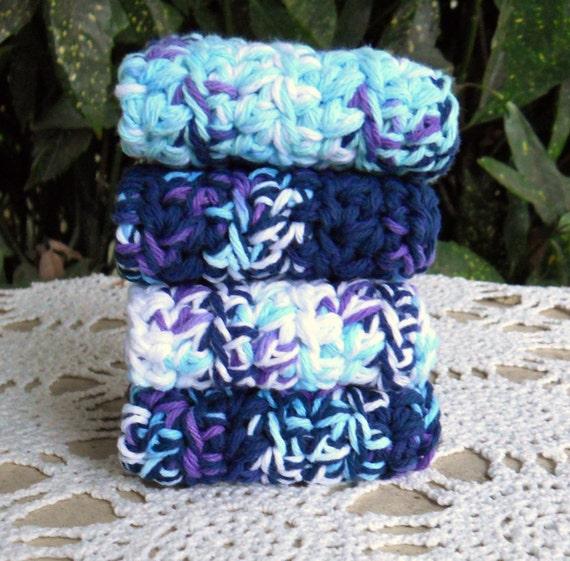 Navy Purple Wash Cloths