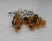 Tortoise Shell Stitch Markers (set of 5)