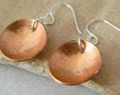 Hammered Copper Earring