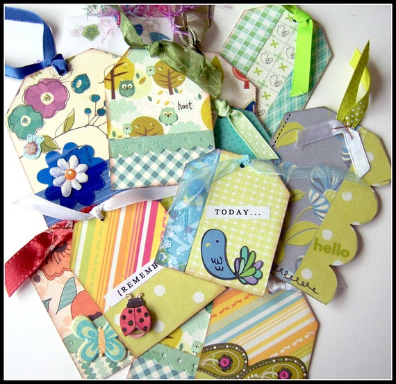 Baker's Dozen Bag of Bountiful Beauty Gift Tags for Crafting, Gift Giving, etc.