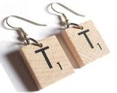 Scrabble Letter Dangle Earrings