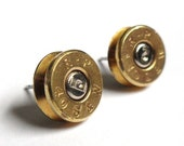 Limited- Remington 40 Caliber S & W Pistol Bullet Casing Shell Stud Earrings