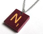 Deluxe Scrabble Tile Letter Necklace