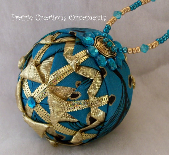 how to make quilted ornament with ribbon