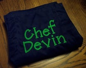 Personalized Embroidered Adjustable Chef's apron