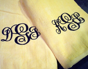 Monogrammed Honeymoon Beach Towels - CUSTOM