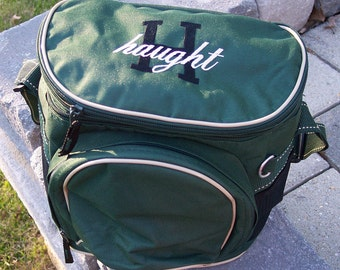 Personalized Double Compartment Coolers - Hunter Green