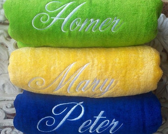 Embroidered Personalized Beach Towel - Custom item