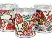 GamiWicks -  Modern Paisley - Japanese chiyogami votive candle set