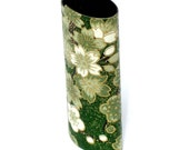 lighter cover - emerald green and white blooming tree chiyogami