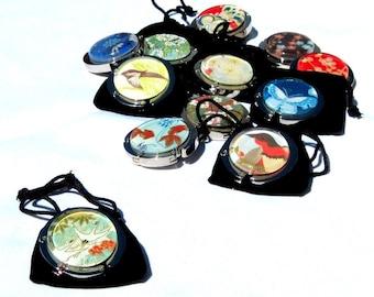 Purse Hooks - Party 6 Pack - Assorted Designs - Japanese Chiyogami Geisha Gem Purse Hangers