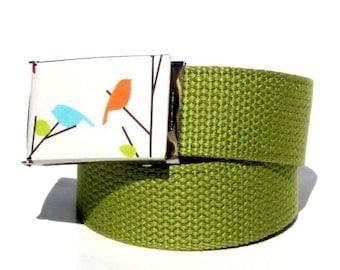 Obi Belt Buckle - love birds (Buckle Only) Vegan Friendly Belts