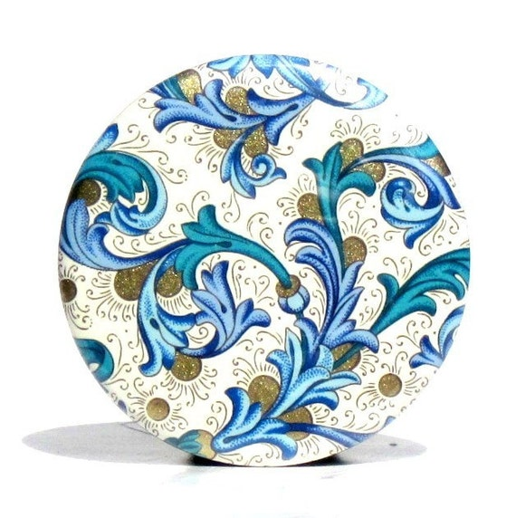 Buy 3 Get The 4th Free- Florentine Pocket Mirror  - with gift bag