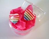 sweetheart - rainbow earrings
