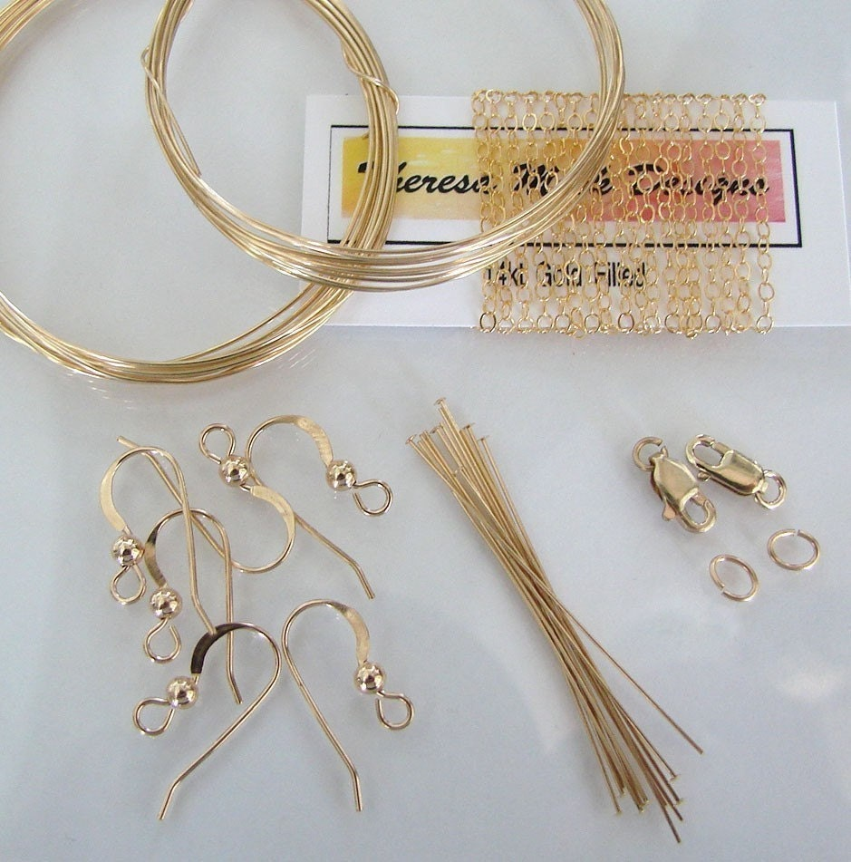 Small Investment Ideas Beginners: Beginners Jewelry Making Kit 14K Gold Filled OR Sterling
