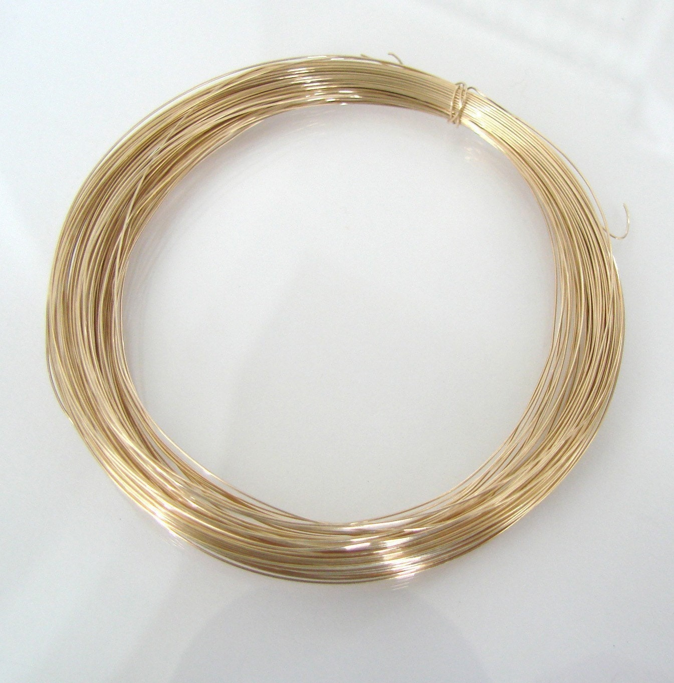 14k solid gold 28g wire for jewelry making 1 foot